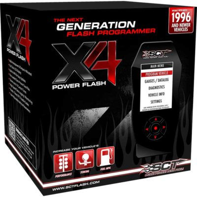 This is the SCT X4 Power Flash Programmer Box